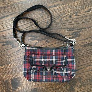 Coach Glitter Tartan Shoulder Bag / Purse